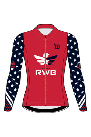 Women's Team RWB Long Sleeve Cycling Jersey - #1360