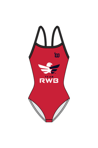 Women's Team RWB Contender One Piece Swim Suit - #1360