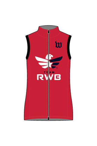 Women's Team RWB Wind Vest with Reflective Rear Pockets- #1360