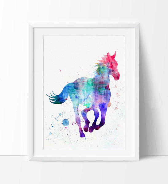 Horse Watercorlor Art, Animal Art, Watercolor Art, Watercolor Print, Wall Art Print, Art, Home Decor Gift, Watercolor Poster (08)