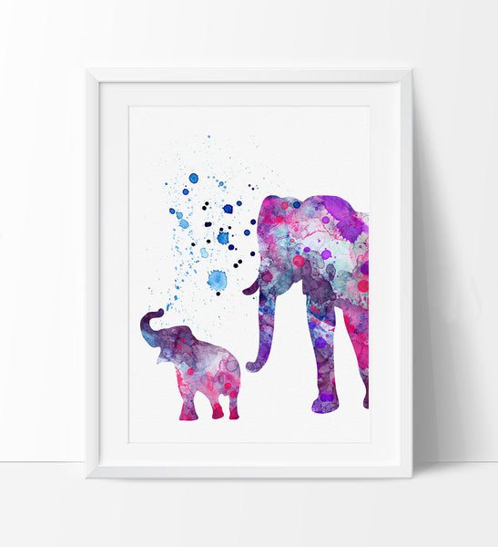 Elephant Print Elephant Watercolor Wall Art Elephant Painting Illustration Elephant Poster Wall Decor 115
