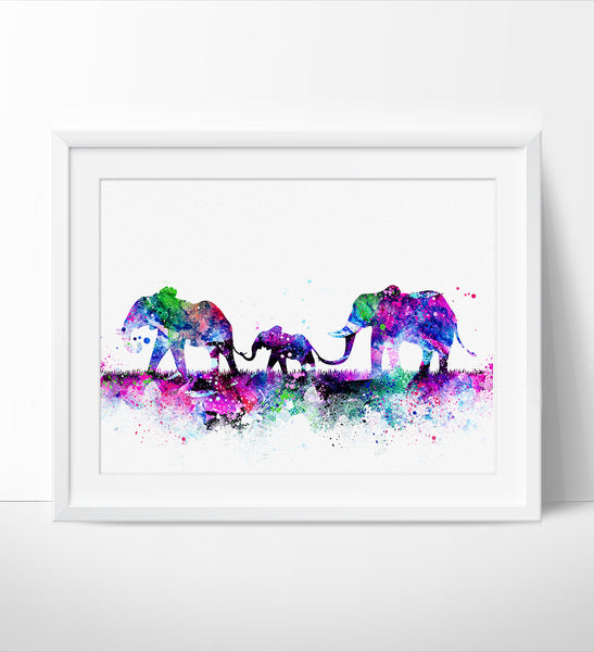 Elephant family painting - photo#20