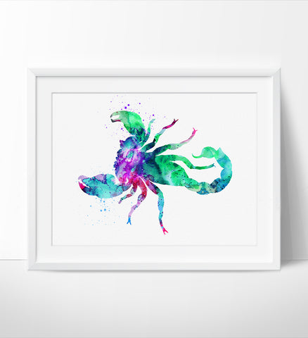 Animal Print, Scorpion Watercolor Print, Animal Art Print, Scorpion Watercolor Wall Art, Wall Art, Illustration Scorpion Poster Decor (163)