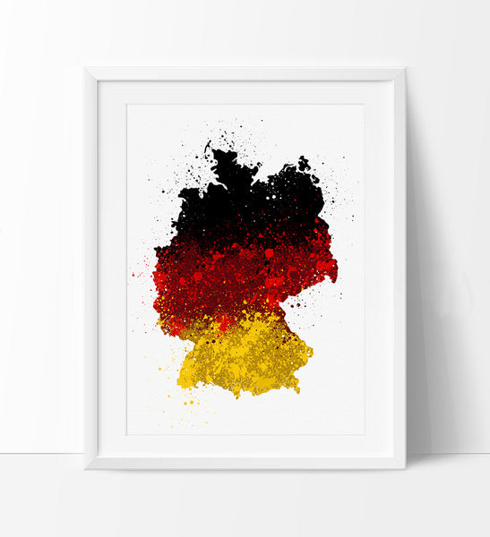 Map Of Germany To Print.Germany Map Art Watercolor Map Germany Art Germany Map Watercolor Print Wall Art Deutschland Flag 178