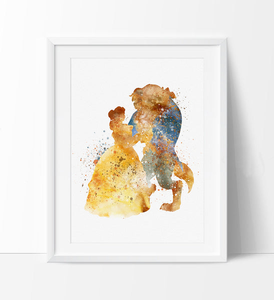 Belle, Beauty and the Beast, Watercolor Art, Disney Princess Poster ...