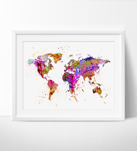 Abstract Map Of The World.Abstract Painting Abstract Art Abstract Watercolor World Map Art