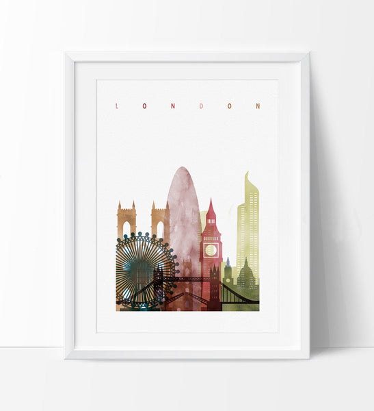 Etonnant ... London Skyline, London Watercolor Print, Cities Poster, Wall Art,  Watercolor Skyline, ...