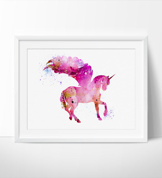 Unicorn Watercolor Print Unicorn Art Watercolor Painting Watercolor Art Illustration Home Decor Wall Art Animal Art Poster 203