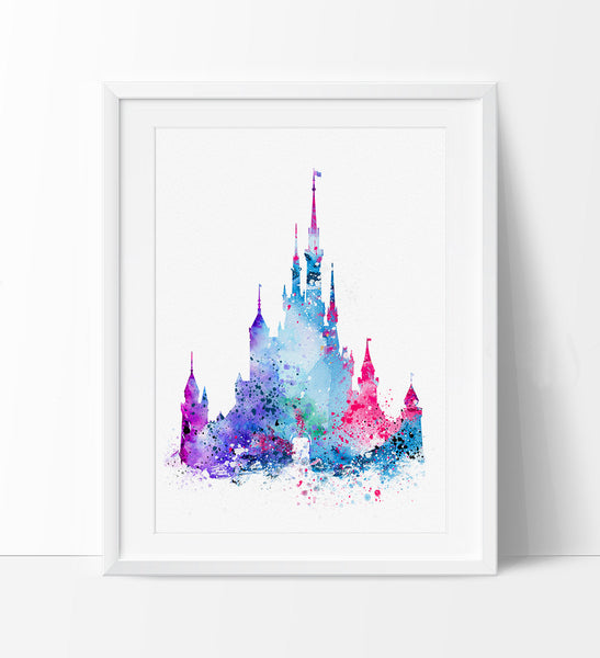Wall decals disney castle print klise thegreaterchurch co
