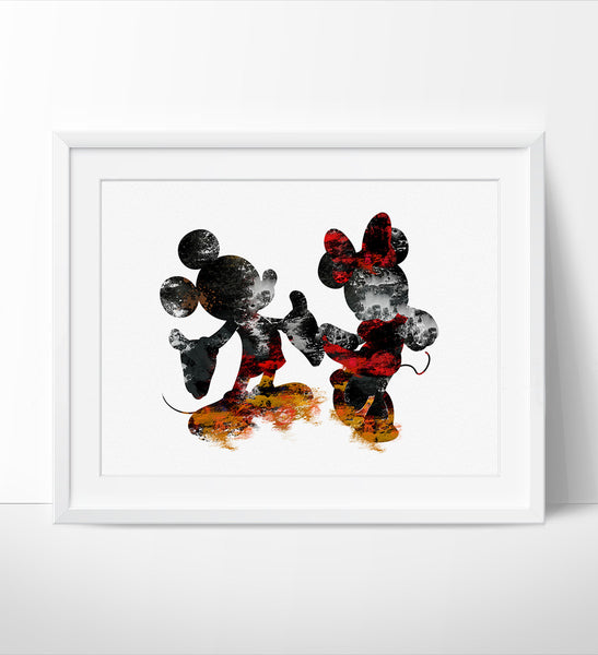 ... Disney Wall Art, Mickey U0026 Minnie Poster, Abstract Art, Abstract  Painting, Wall ...