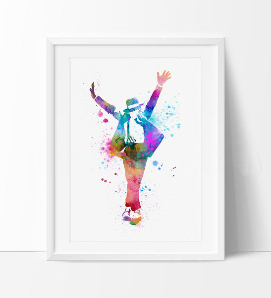 Michael Jackson Poster Watercolor Painting Art Wall Hanging