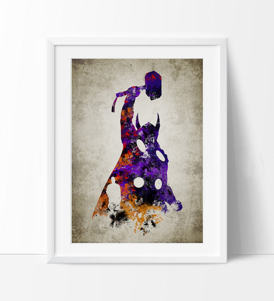 Thor Print, Thor Poster, Thor Wall Art, Superheroes Poster, Super Hero, Marvel art, For gift, Thor art print, Wall Art Poster (272)