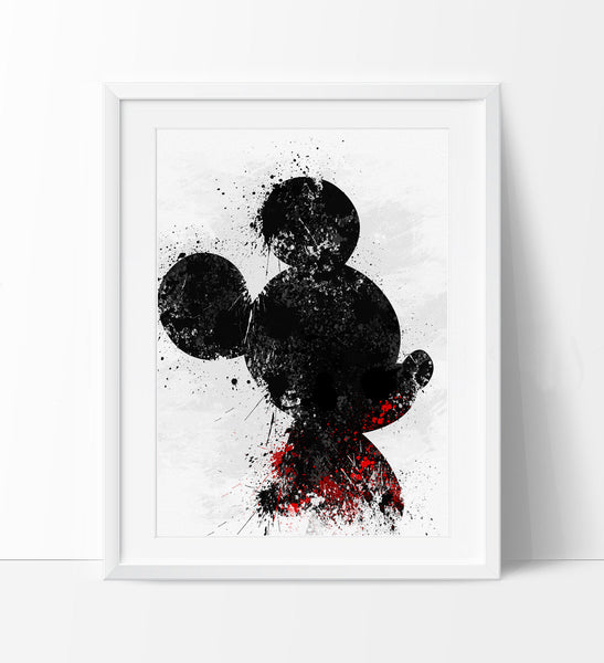 Mickey Watercolor Art Print, Disney watercolor, Watercolor Mickey ...