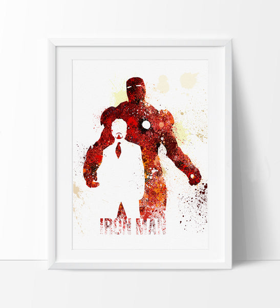 Iron Man Art Print Superhero Art Superhero Print