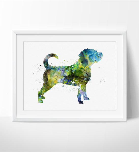 Dog Wall Art Print , Watercolor Art, Cute Dog Art Print, Watercolor Dog Art Print (54)