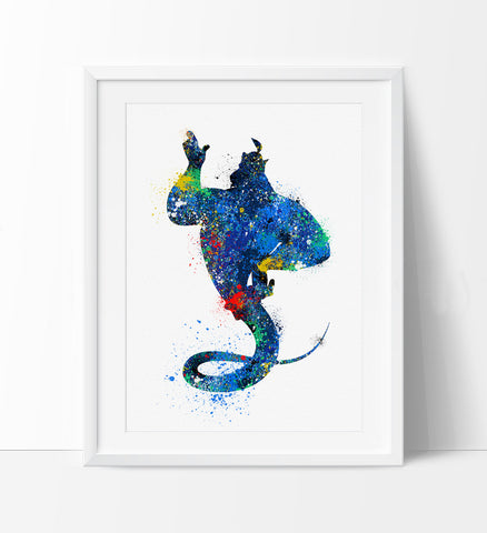 Nursery Decor, Kids Room Art, Disney Print Watercolor, Disney Aladdin Poster, Nursery Wall Art Poster (57)