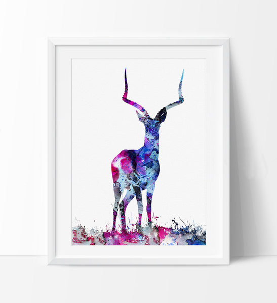 Deer Decor, Deer Figurine, Deer Art, Deer Print, Deer Painting, Deer Watercolor, Deer Poster,  Deer Wall Art, Animal Art Print (71)