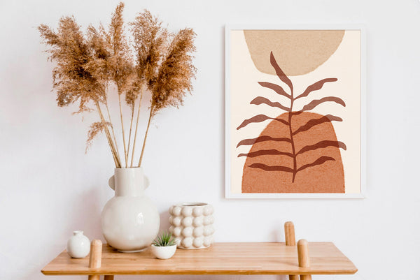 Mid Century Modern Desert Print, Cactus Print, Southwestern Decor, Desert Art, Mountain Print, Modern Abstract Wall Art