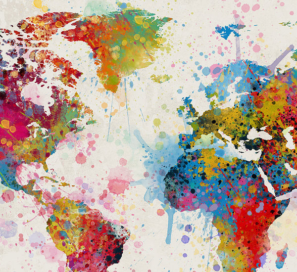 Extra large watercolor world map world map art travel world map extra large watercolor world map world map art travel world map wall art gumiabroncs Image collections