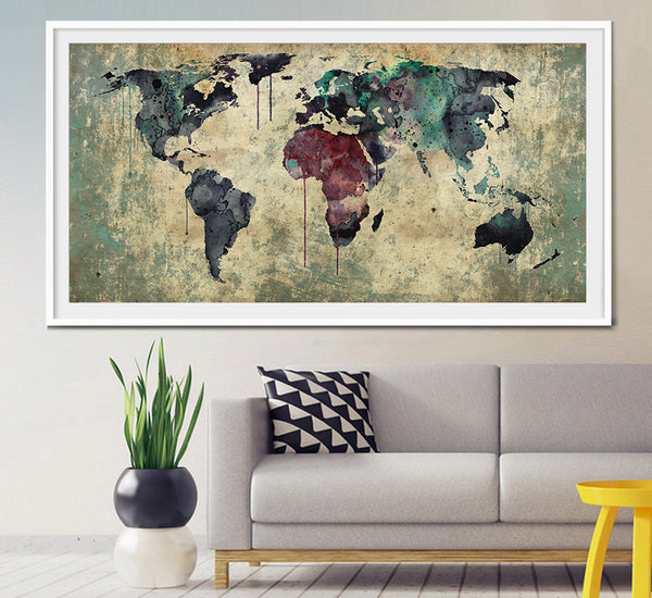 Extra large wall art world map extra large art large world map extra large wall art world map extra large art large world map print gumiabroncs Gallery
