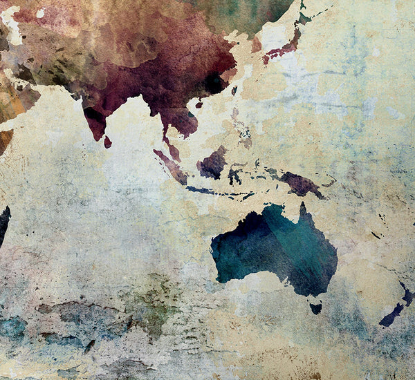 Large world map art extra large art world map watercolor wall art large world map art extra large art world map watercolor wall art world gumiabroncs Gallery