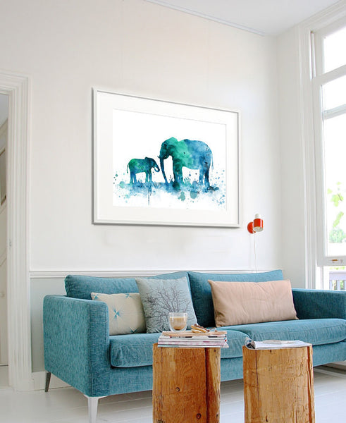 Elephant Print, Elephant Watercolor Wall Art, Elephant Painting, Illustration Elephant Poster Wall Decor (87)
