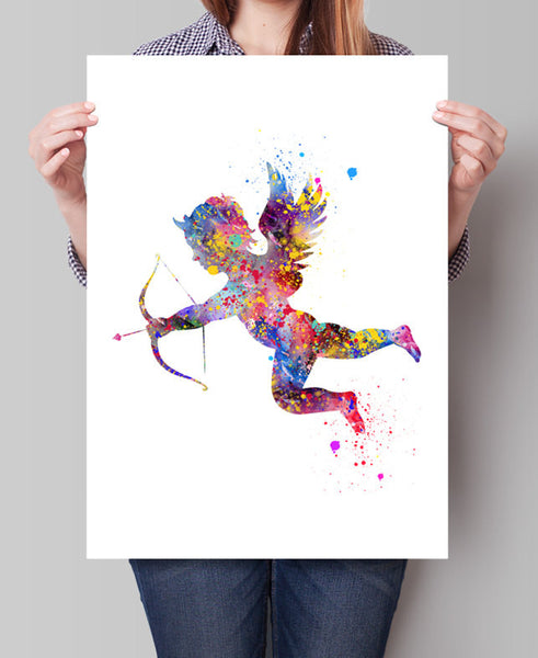 Eros Watercolor illustrations Art Print Wall Art Poster Geekery Eros Home Decor Giclee Wall Decor Art Wall Hanging  (88)