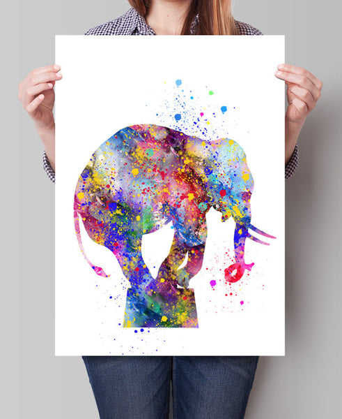 Elephant Art Print, Elephant Decor, Elephant Watercolor Art, Elephants, Elephant Wall Decor, Elephant Figurine, Elephant Nursery (89)