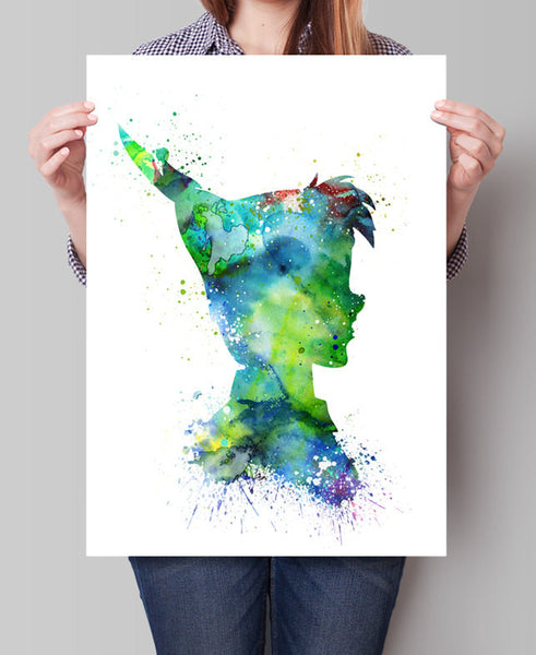 Peter Pan Watercolor Print, PeterPan Nursery Decor, Watercolor Art, Baby Decor, Kids Art, Disney Wall Art, Disney Print, Disney Poster(113)