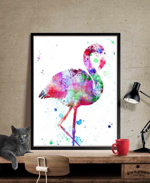 Flamingo Watercolor Art Print, Watercolor Painting, Watercolor Art Print, Watercolor Animal, Bird Art, Watercolor Poster (14)