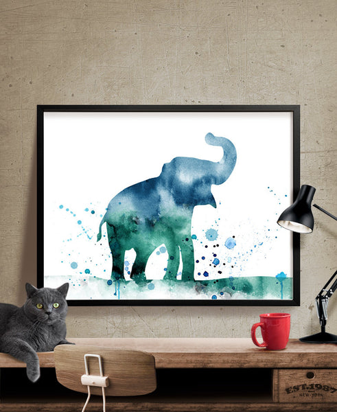 Watercolor Elephant Poster, Elephant Print, Watercolor Poster, Watercolor, Wall art, Artwork, Animal Art, Illustration, Home Decor(139)