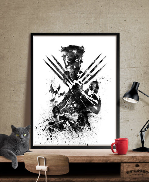 Wolverine X MEN Watercolor Art Print, Wolverine Poster, Wall Art Poster Giclee Wall Decor, Wolverine Wall Hanging, Superhero Art (22)