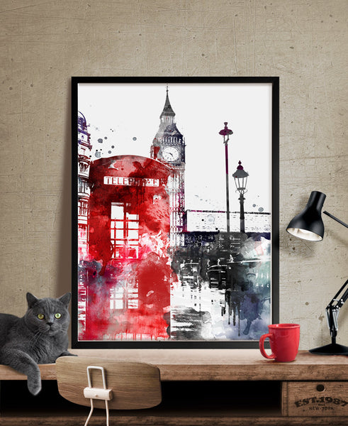London Big Ben Art, London Art, London Print, London Decor