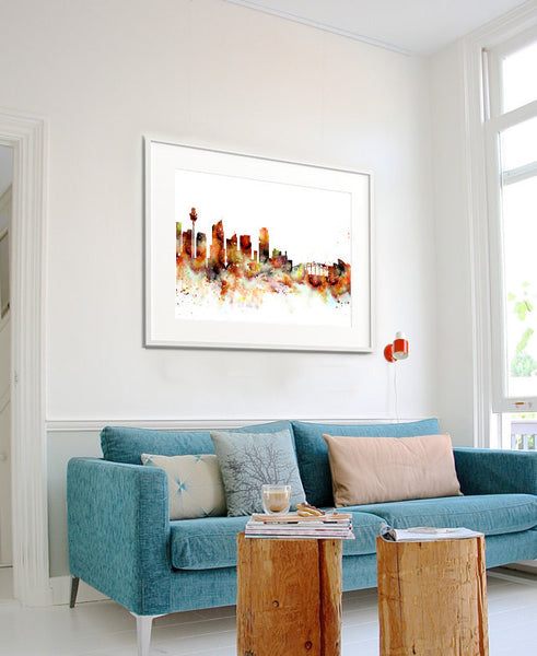 Sydney Skyline, Sydney Cityscape Art, Watercolor Painting, Watercolor Art, Sydney Print, Sydney Map, Art Print,Watercolor Poster(150)