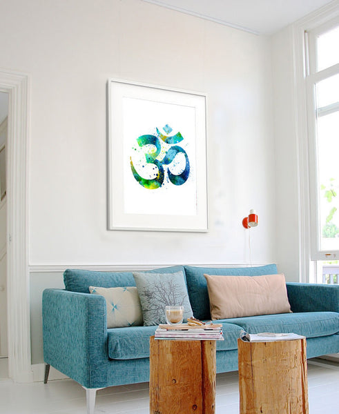 Yoga Art Print, Yoga Artwork, Om Symbol Yoga Art, Watercolor Painting, Buddha Art,Wall Art Print Watercolor, Watercolor Art (156)