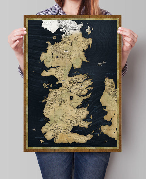 Game of Thrones Map, Westeros Map,  Large Map, Vintage Map, Map Print, Game of Thrones Map Print, Wall Art, Map Poster (161)