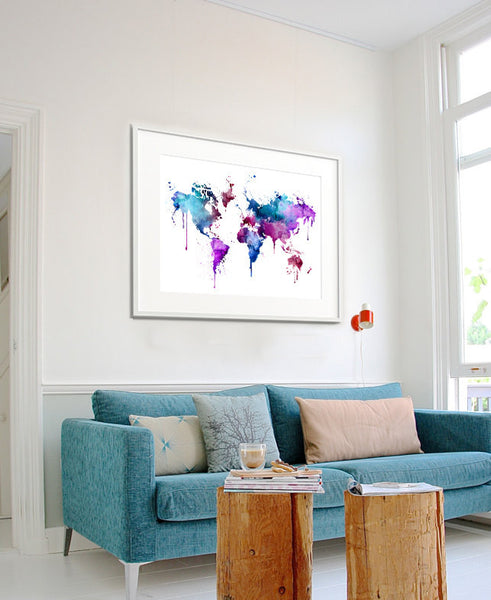 World Map Large Wall Art, World Map Art Print, Art Painting, Wall Art Prints, Map Wall Decor, Painting, World Map Large Painting, Decor(166)