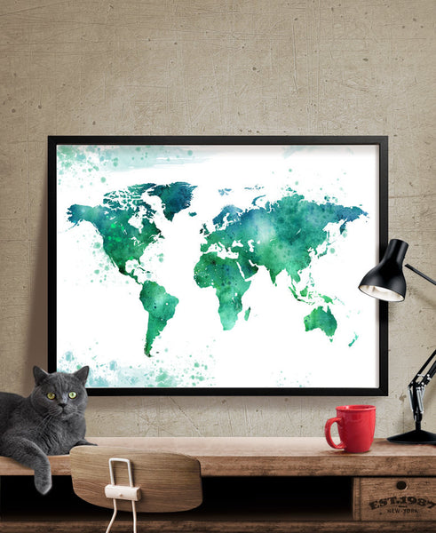 World Map Poster, Push Pin Travel Map, Large World Map, World Map Art, World Map Print, Wall Art Print  (183)