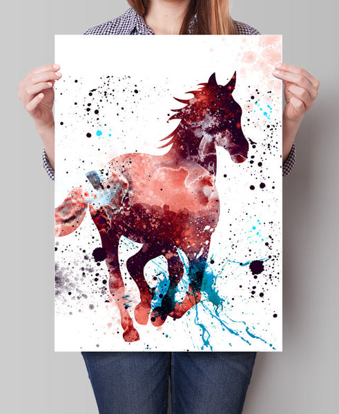 Horse Watercolor Print, Horse Art Print, Watercolor Art, Animal Watercolor, Horse Home Decor Wall Art, Horse Painting Print (192)