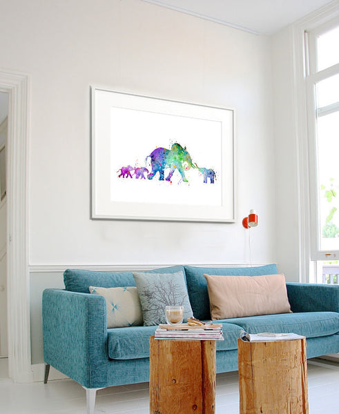 Elephant Watercolor Print, Elephant Art Print, Watercolor Art, Animal Watercolor, Elephant Home Decor Wall Art, Elephant Painting Print(206)