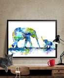 Large Abstract Painting, Elephant Art Print, Elephant Abstract Art , Wall Art Print, Wall Decor Art Home Decor Wall Hanging (11)