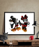 Disney wall art, Mickey & Minnie Poster, Abstract Art, Abstract Painting, Wall art, Disney Art Print, Gift, disney painting, Poster (230)