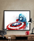Captain America Poster, Avengers print, Print, Superhero Poster, Marvel, Wall Art, Artwork, Heroes Art, Artwork, Comic Poster, Gift  (232)