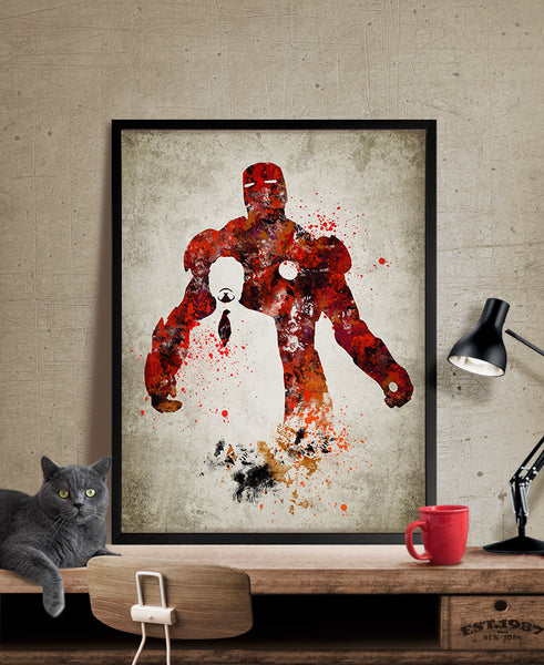 Ordinaire ... Iron Man Art Print, Iron Man Poster, Iron Man Wall Art, Superheroes  Poster ...