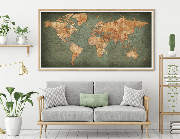 large decor art map