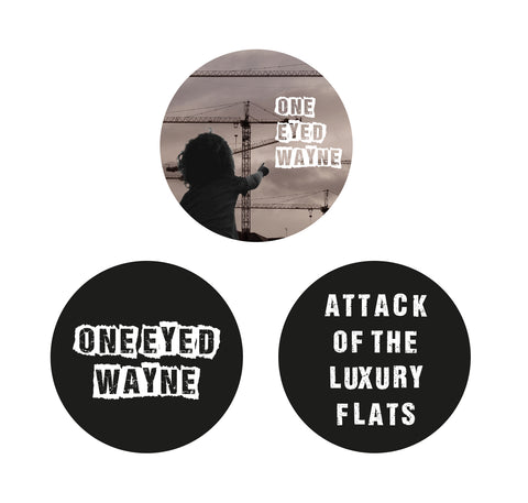 ONE EYED WAYNE - LUXURY FLATS BADGE SET