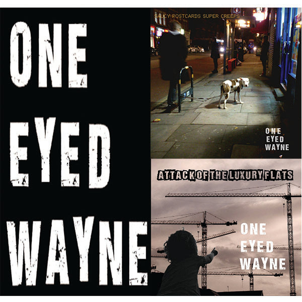 ONE EYED WAYNE - SAUCY POSTCARDS & LUXURY FLATS CD BUNDLE