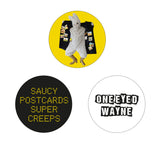 ONE EYED WAYNE- THE SAUCY BUNDLE CD T-SHIRT AND BADGE PACK