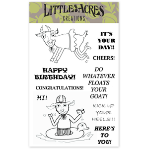 'Party Goats' Stamp Set