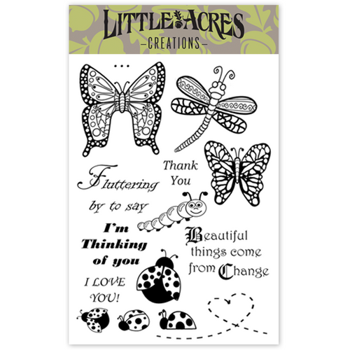 'Fluttering By' Stamp Set